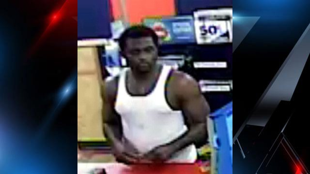 The sheriff's office is asking for information on the man in this surveillance image. (Source: Greenville Co. Sheriff's Office)