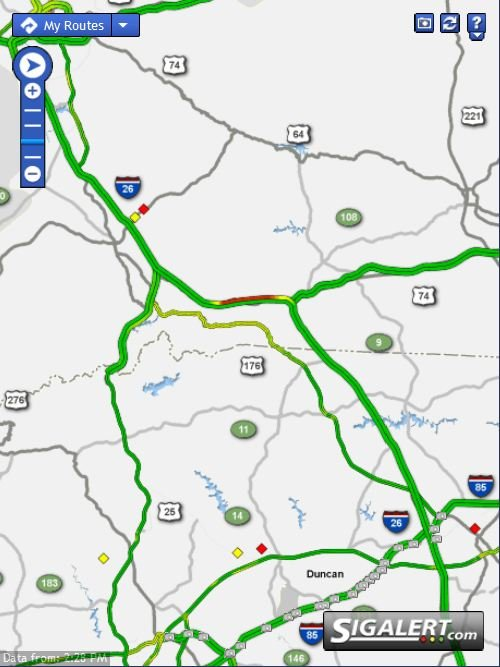 Both lanes of I-26 were closed on Wednesday afternoon.