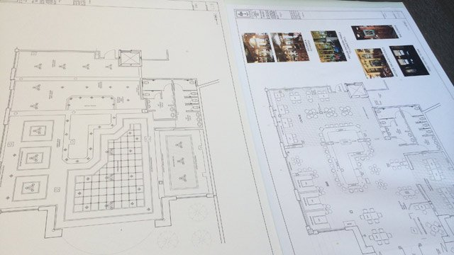 Plans for the new pub The Playwright. (Aug. 13, 2014/FOX Carolina & High Street Hospitality)