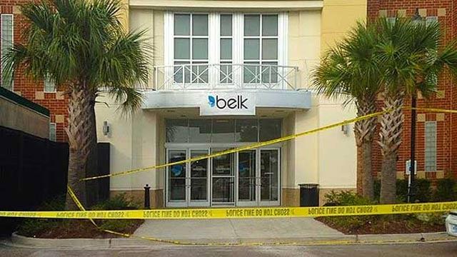Stabbing scene at Mt. Pleasant Belk store. (Source: WCSC)