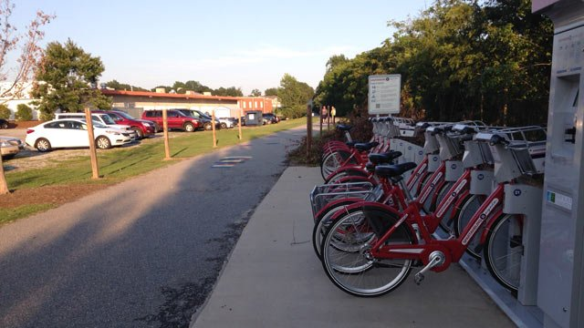 """The Spartanburg Rail Trail helped the city earn a spot in """"The Way to Wellville"""" challenge. (FOX Carolina: 8/14/2014)"""