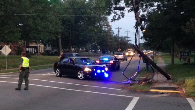 Police block off part of Highway 8 where a hit and run accident happened. (Aug. 15, 2014/FOX Carolina)