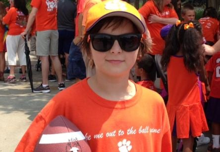 A young Clemson fan at Fan Appreciation Day (FOX Carolina)