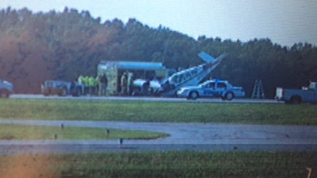 One person was on board the single-engine plane. (Aug, 18, 2013/FOX Carolina)