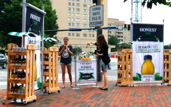 A Honest Tea stand is used to conduct the National Honesty Index experiment. (File/FOX Carolina)