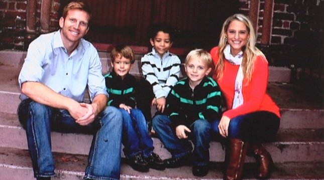 Jeff and Kayla Hall, with their sons. (Courtesy: The Hall family)