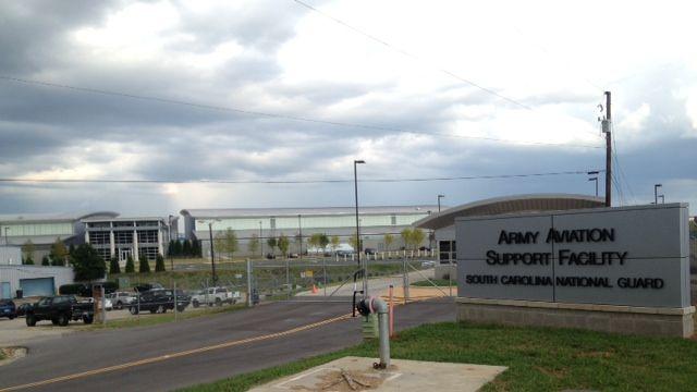 The Aviation Support Facility No. 2 is located near the Donaldson Center. (Aug. 19, 2014/FOX Carolina)