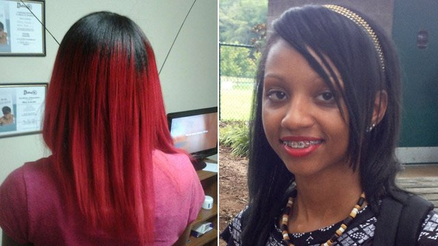 15-year-old Johnee' McGowen sent home for red hair. (Source: Bruster family/FOX Carolina)