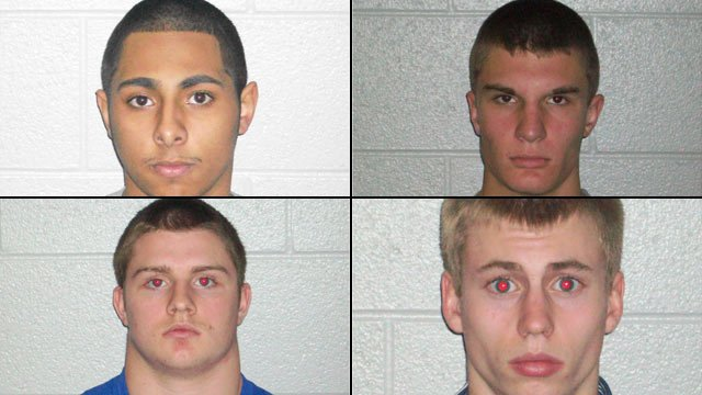 From top-left to bottom-right: Vincent Curto, Tyler Garren, Matthew Bishop and Justin Ponder. (Henderson Co. Sheriff's Office)