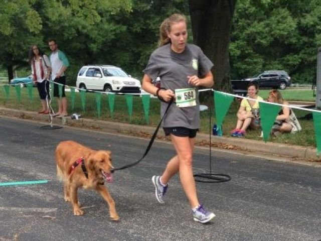 People and pets participate in the 2014 Mutt Strut (FOX Carolina)