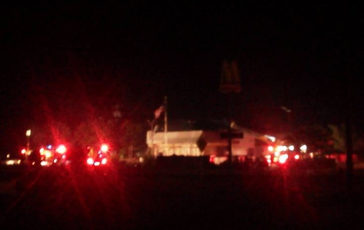 Firefighters battle fire at Belton McDonald's (Courtesy: Casey Cooke / Facebook)