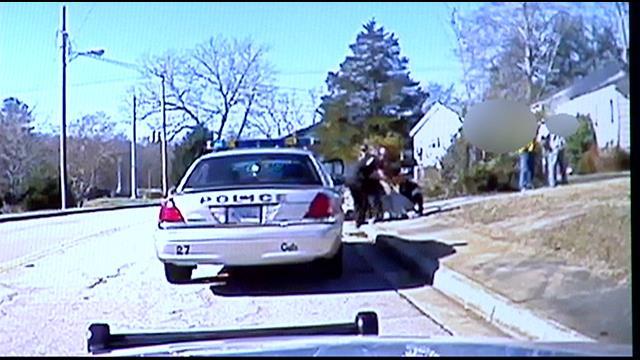 A still from dash cam video of Sierad's Seneca arrest. (Source: Seneca Police Dept.)