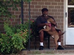 The pit bull and owner (FOX Carolina)