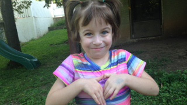 Natalie Davis, 5, is happy and playing after her heart transplant surgery. (Aug. 26, 2014/FOX Carolina)