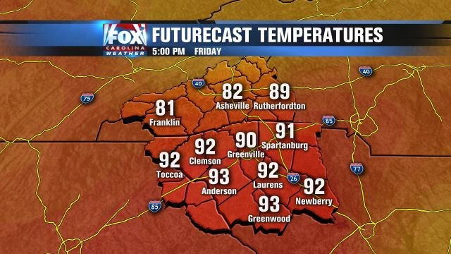 Hot temps Friday afternoon