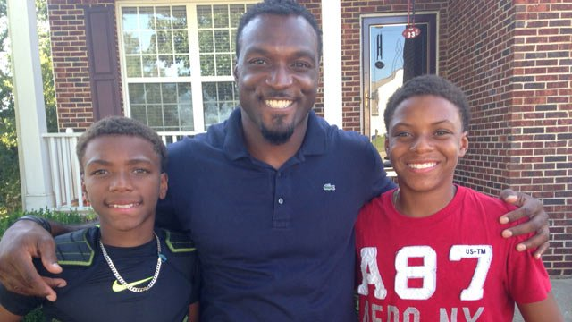 Brandon Bennett with his sons at their Upstate home. (Aug. 28, 2014/FOX Carolina)