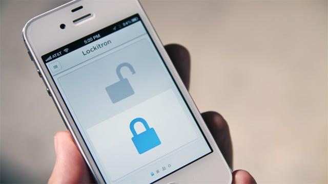 Lockitron app gives keyless entry by phone. (Courtesy: Lockitron)