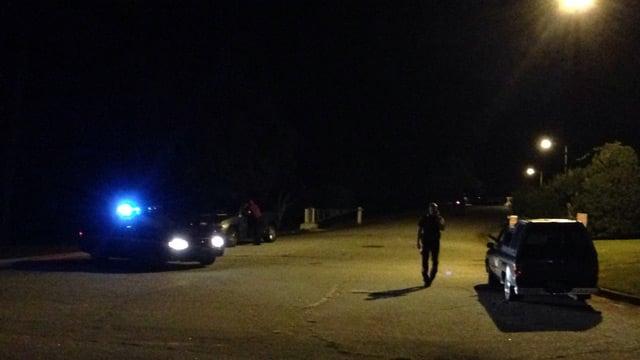 Deputies outside of the Hollingsworth plant on Laurens Road. (Aug. 29, 2014/FOX Carolina)