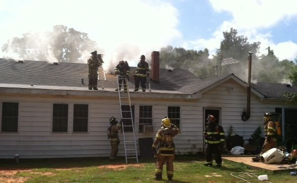 Firefighters at River Street home (Photo provided)