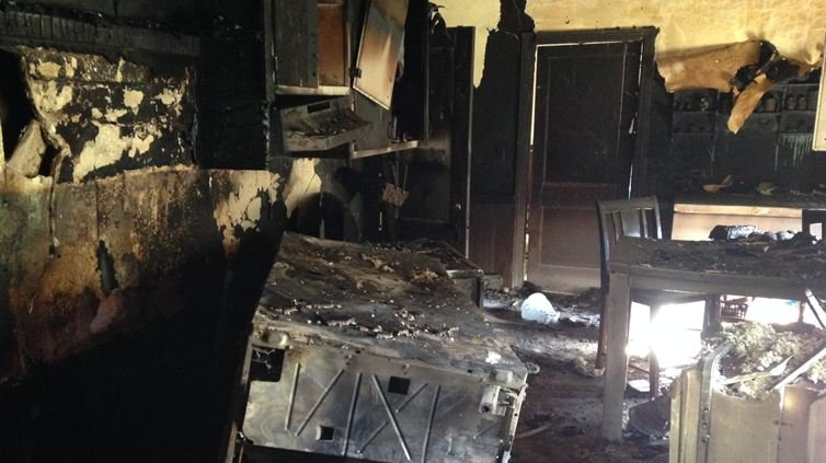 Fire ravaged kitchen (FOX Carolina)