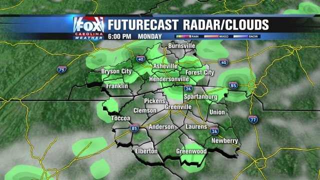 Isolated afternoon storms will strike on Monday.