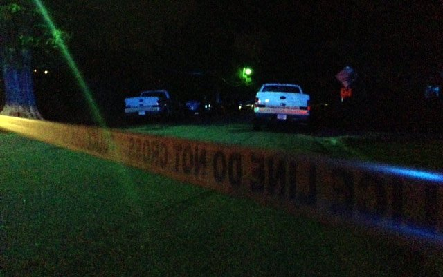 Police respond to a homicide on Augusta Court they say is related to LEC shooting. (Sept. 1, 2014/FOX Carolina)