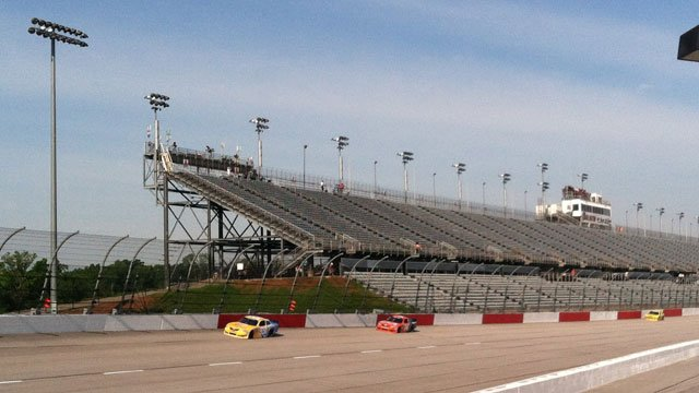 Cars practice at the Darlington Raceway. (File/FOX Carolina)