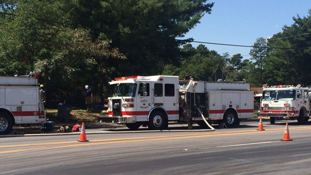 Firefighters respond to the fire off of White Horse Road. (Sept. 2, 2014/FOX Carolina)