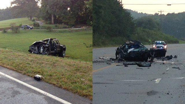 The fatal wreck happened just after 6 p.m. on Tuesday. (Sept. 2, 2014/FOX Carolina)