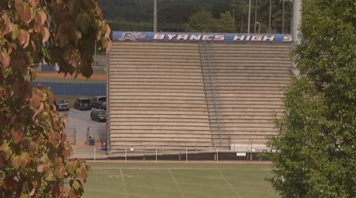 Byrnes High School's current football stadium, proposed to be rebuilt. (FOX Carolina)