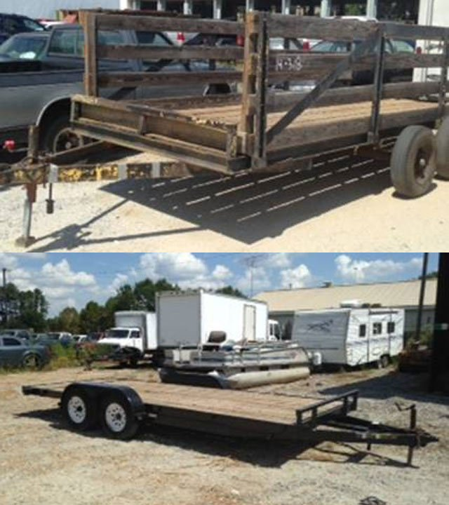 Deputies say these two trailers were stolen but have not been located. (Source: Spartanburg Co. Sheriff's Office)