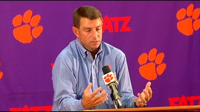 Clemson's Dabo Swinney discusses how domestic violence played impacted his childhood. (Sept. 16, 2014/FOX Carolina)