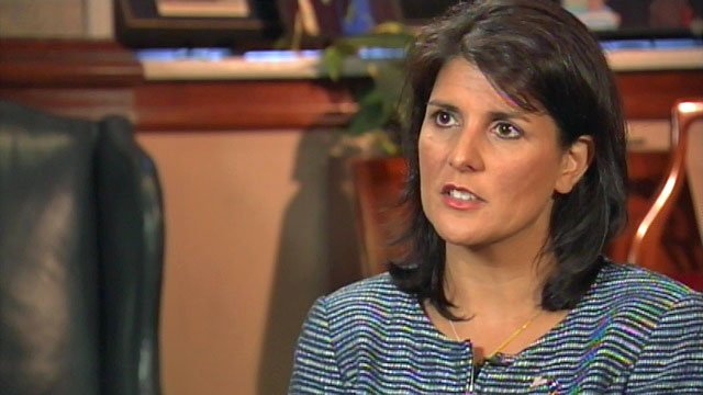 South Carolina Gov. Nikki Haley talks to Diana Watson during an interview with FOX Carolina. (File/FOX Carolina)
