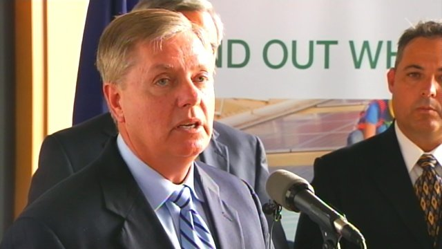 Sen. Lindsey Graham talks at an Upstate event. (File/FOX Carolina)