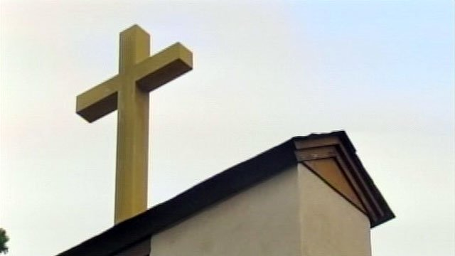 An Upstate church's steeple and cross. (File/FOX Carolina)