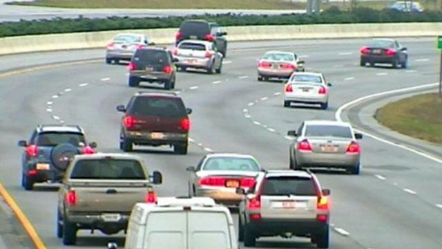 Traffic moves along Interstate 385 in Greenville. (File/FOX Carolina)