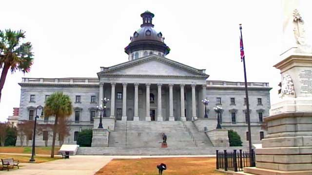 Flags fly above the rotunda of the South Carolina Capitol in Columbia. (File/FOX Carolina)