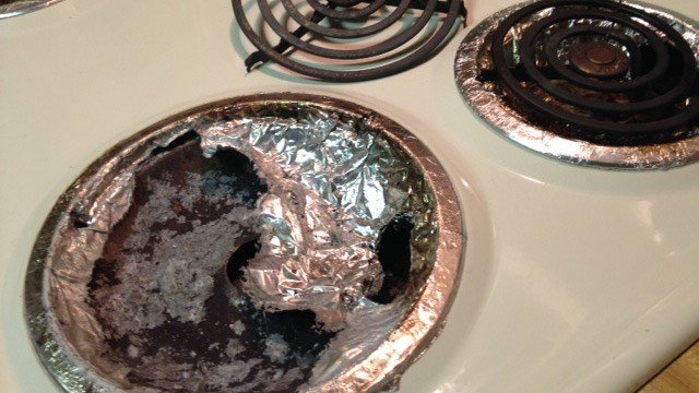 The burned out burner on the stove. (Oct. 1, 2014/FOX Carolina)