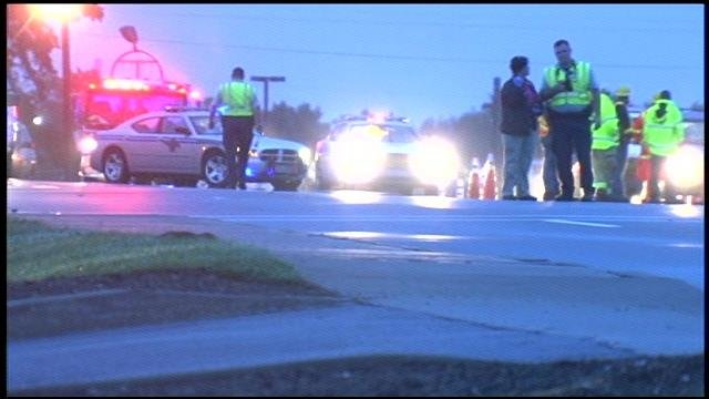 Troopers respond to the fatal wreck in front of Kimbrell's on White Horse Road. (Oct. 13, 2014/FOX Carolina)