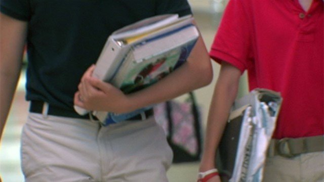 Students walk to class in an Upstate school. (File/FOX Carolina)