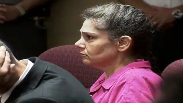 Elisa Baker listens to a judge pronounce sentence in a North Carolina courtroom. (File/FOX Carolina)