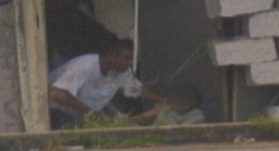 Johnson and the clerk at the end of the standoff. (File/FOX Carolina)