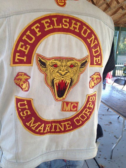 Vest with logo for Teufelshunde Motorcycle Club. (Nov. 2, 2014/FOX Carolina)