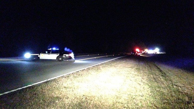 Officials responded to the scene of a fatal collision in Greenwood on Saturday night. (Nov. 15, 2014/FOX Carolina)