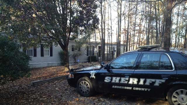 Deputies were investigating at the home on Thursday. (Nov. 20, 2014/FOX Carolina)