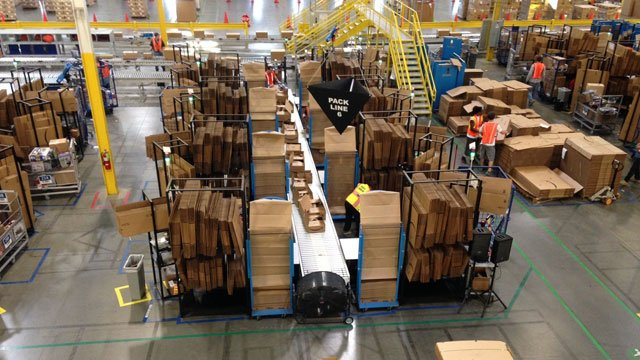 The Amazon fulfillment center in Spartanburg will be in full swing on Cyber Monday for the company's busiest day of the year. (Nov. 30, 2014/FOX Carolina)