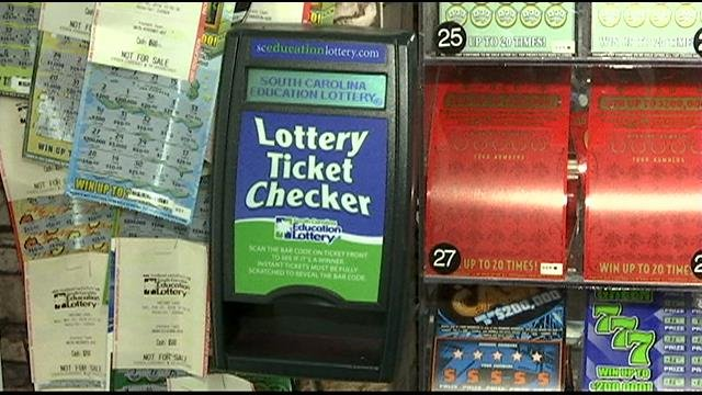 The lottery ticket machine that checks ticket prizes. (Dec. 2, 2014/FOX Carolina)