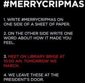 #MerryCripmas call to action (Courtesy: social media)