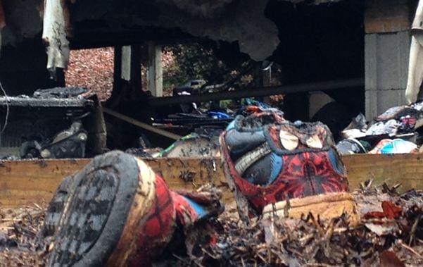 The scene of the deadly fire in Berea (FOX Carolina)