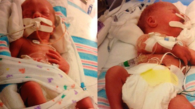 The newborns saved after the wreck. (Source: Family)